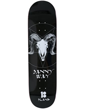 Plan B Way Darkness BLK ICE Skateboard Deck - 8.25