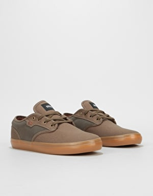 Globe Motley Skate Shoes - Olive Brown/Gum