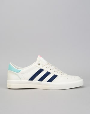 Adidas x Hélas Lucas Premiere Skate Shoes - Off White/Dark Blue/Aqua