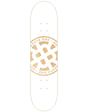 Route One Stamp Logo Skateboard Deck - 7.75