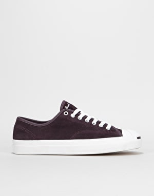 Converse Jack Purcell Pro Ox Skate Shoes - Black Cherry/White/White