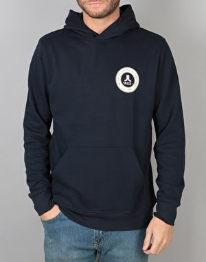 WeSC Varsity Chest Pullover Hoodie - Navy