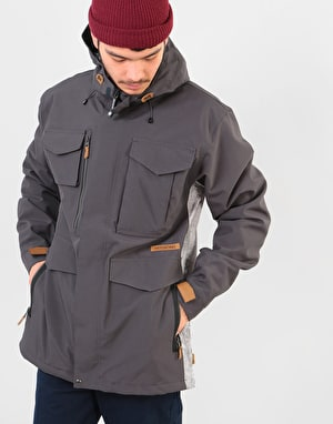 Sessions Ransack Insulated 2019 Snowboard Jacket - Dark Grey/Concrete