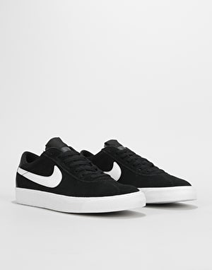 Nike SB Zoom Bruin Premium SE Skate Shoes - Black/White