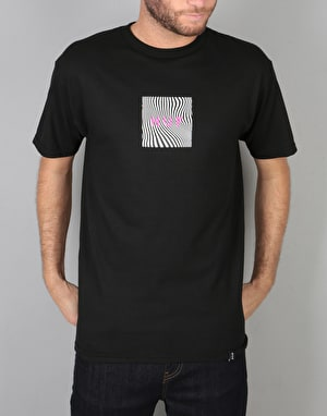 HUF Optical Wave Logo T-Shirt - Black