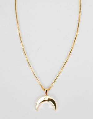 Midvs Co 18K Gold Plated Luna Necklace - Gold