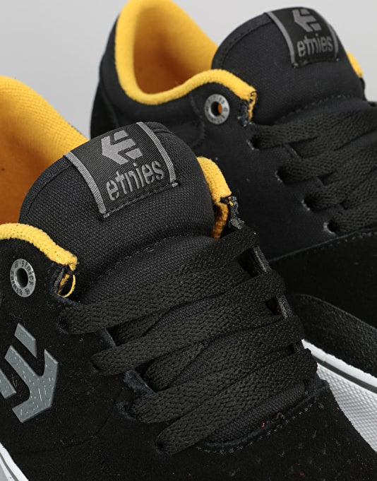Etnies Marana Vulc Skate Shoes - Black/Yellow/Grey