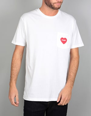 Poler Furry Heart Pocket T-Shirt - White