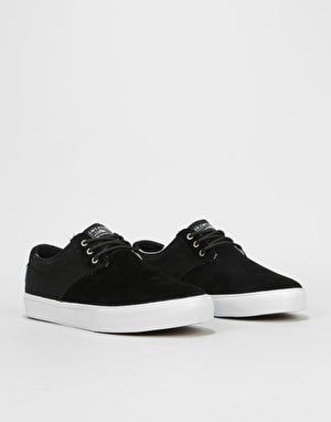 Lakai Daly Skate Shoes - Black Suede