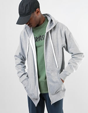 Original Flamingo Zip Hoodie - Heather Grey