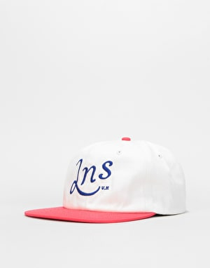 Lovenskate LNS Snapback Cap - White/Red