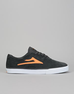 Lakai Sheffield Skate Shoes - Charcoal/Orange Suede