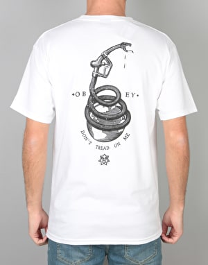Obey x Ravi Zupa Don't Tread on Me T-Shirt - White