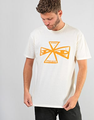 Independent Barbee Cross T-Shirt - Cream