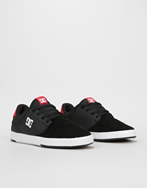 DC Plaza TCS Skate Shoes - Black/Athletic Red
