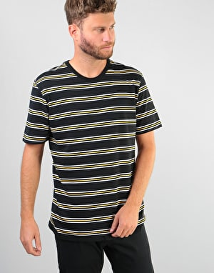 Nike SB Summer Stripe T-Shirt - Black/Black/Laser Orange