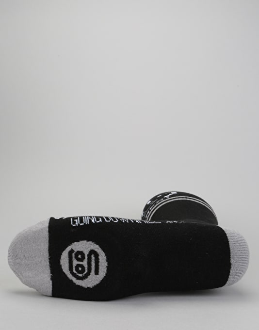 Stinky x Yobeat HW 2018 Snowboard Socks - Black/Grey