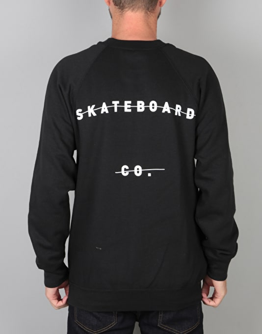 The National Skateboard Co. Redacted Crew - Black