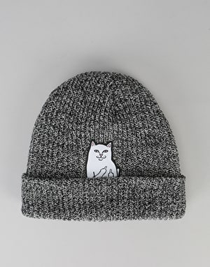 RIPNDIP Lord Nermal Ribbed Beanie - Grey Speckled