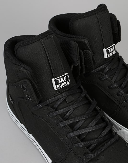 Supra Vaider Skate Shoes - Black/White