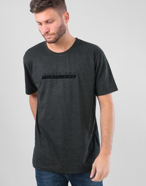 Route One Tonal Racer T-Shirt - Washed Black