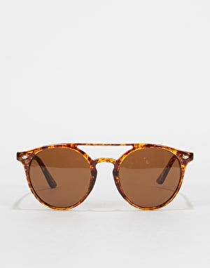 Route One Oval Top Bar Sunglasses - Brown Tortoise