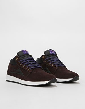 Lakai Griffin Mid Skate Shoes - Chocolate Suede