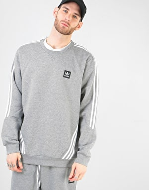 Adidas Insley Crewneck Sweatshirt - Core Heather/White