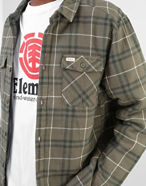 RVCA AR Plaid L/S Shirt - Olive