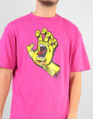 Santa Cruz Screaming Hand T-Shirt - Raspberry