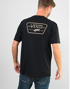 Vans Full Patch Back S/S T-Shirt - Black-Dirt