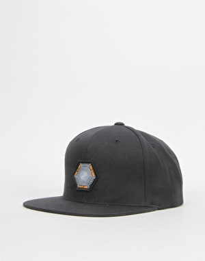 Route One Vortex Snapback Cap - Black
