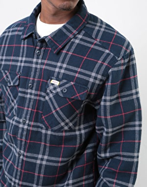 RVCA AR Plaid L/S Shirt - New Navy