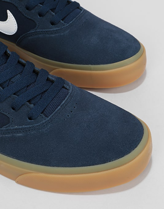 Nike SB Chron SLR Skate Shoes - Obsidian/White