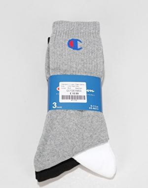 Champion C Logo 3 Pack Socks - Assorted