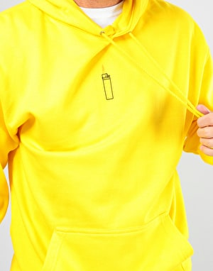 Route One Flames Pullover Hoodie - Yellow