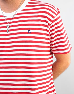 Route One Classic Stripe T-Shirt - White/Red