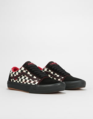 Vans Old Skool Pro BMX Shoes - (Peraza) Black/Checkerboard