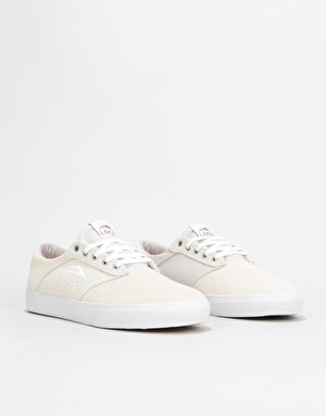 Lakai Porter Skate Shoes - White Suede