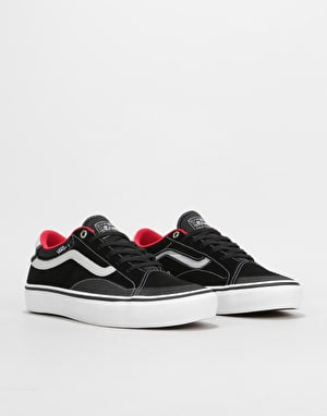 Vans TNT AP Skate Shoes - Black/White/Red