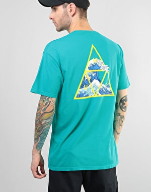 HUF High Tide Triple Triangle T-Shirt - Tropical Green