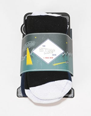 Stinky 'The Stinky Movie' Snowboard Socks - Blue