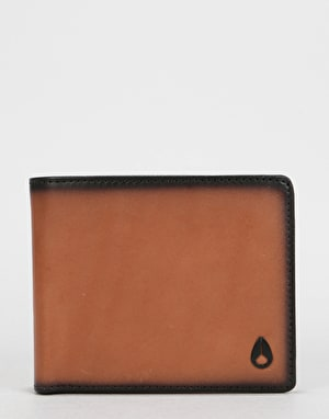 Nixon Satellite Big Bill Bi-Fold Leather Wallet - Tan