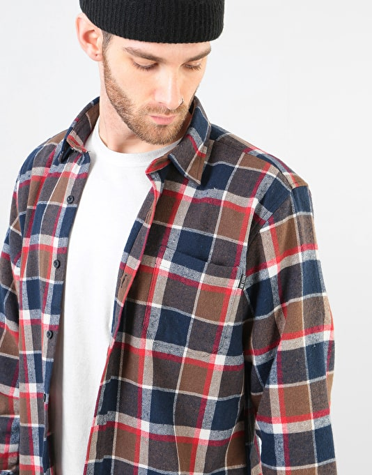 Route One Flannel Shirt - Brown/Multi
