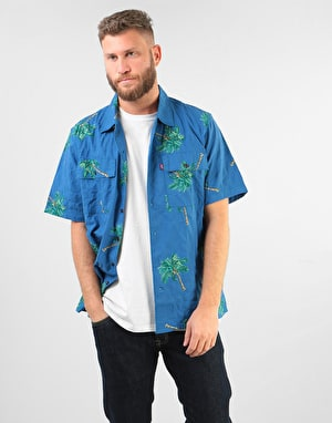 Levi's Skateboarding S/S Button Down Shirt - Watercolour Palm