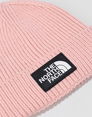 The North Face Logo Box Cuffed Beanie -Misty Rose