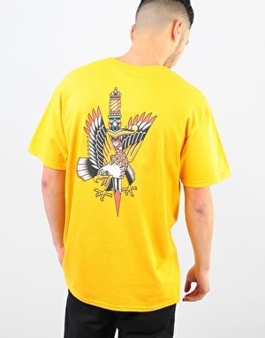 Scarred For Life Eagle & Dagger SS T-Shirt - Gold