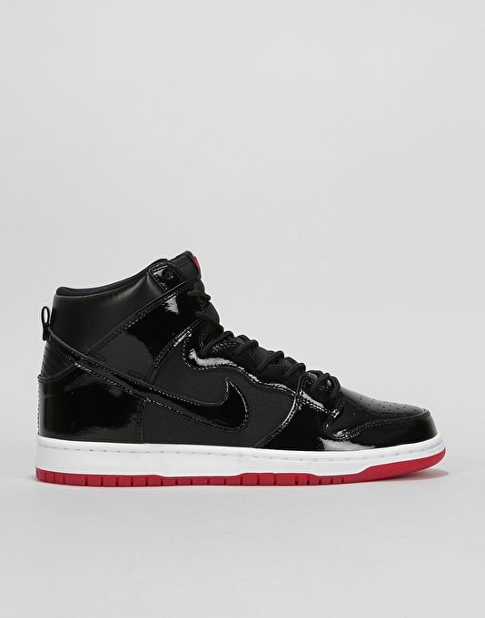 27f1b2f597 Nike SB Zoom Dunk High TR Skate Shoes - Black Black-White-Varsity Red