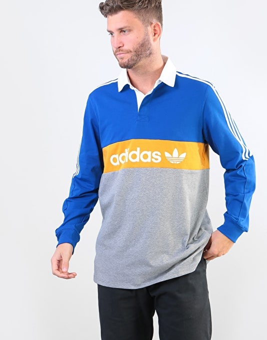 Shirt Ls Adidas Yellow Royaltactile Heritage Polo Collegiate HtHx5T6