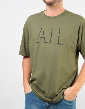 Anti Hero Big Drophero T-Shirt - Military Green/Black